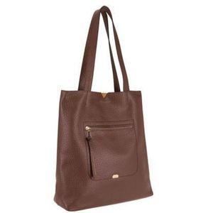 Lodis Borrego Madia Large brown Leather Tote